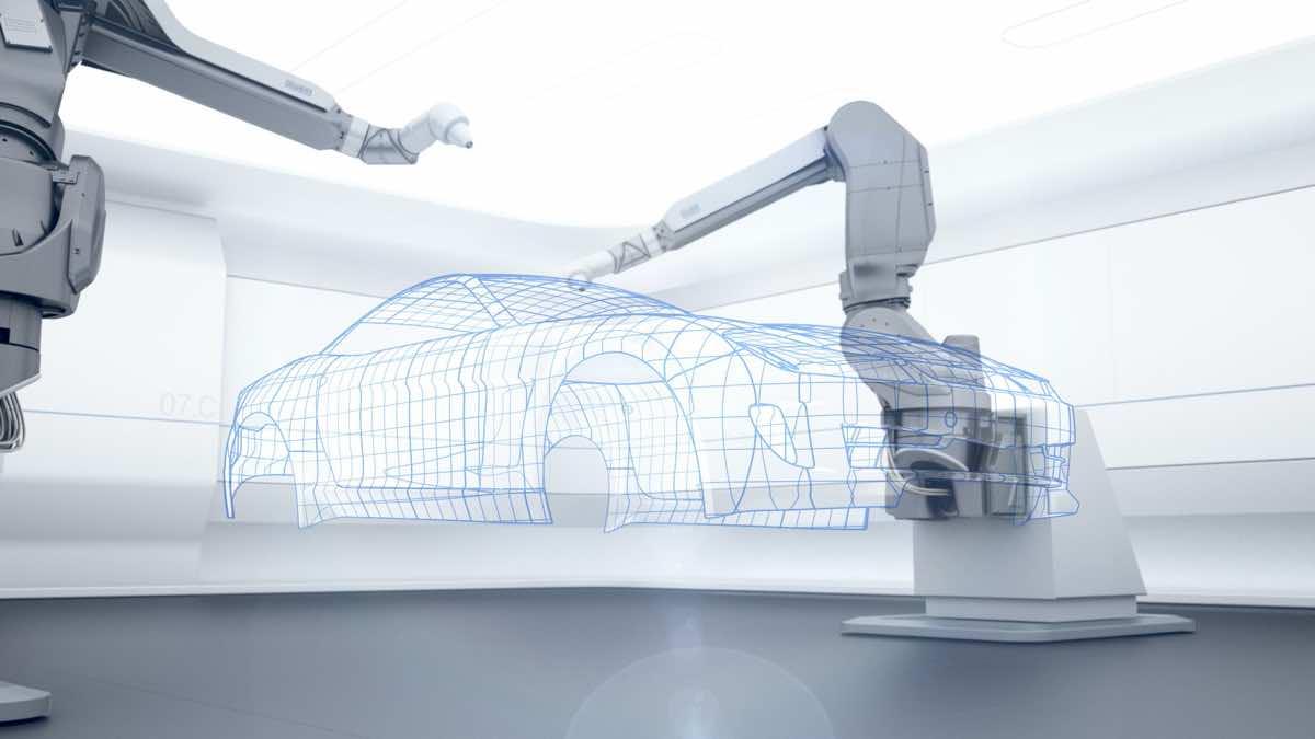 Robotiseeritud auto värvimine Dürr